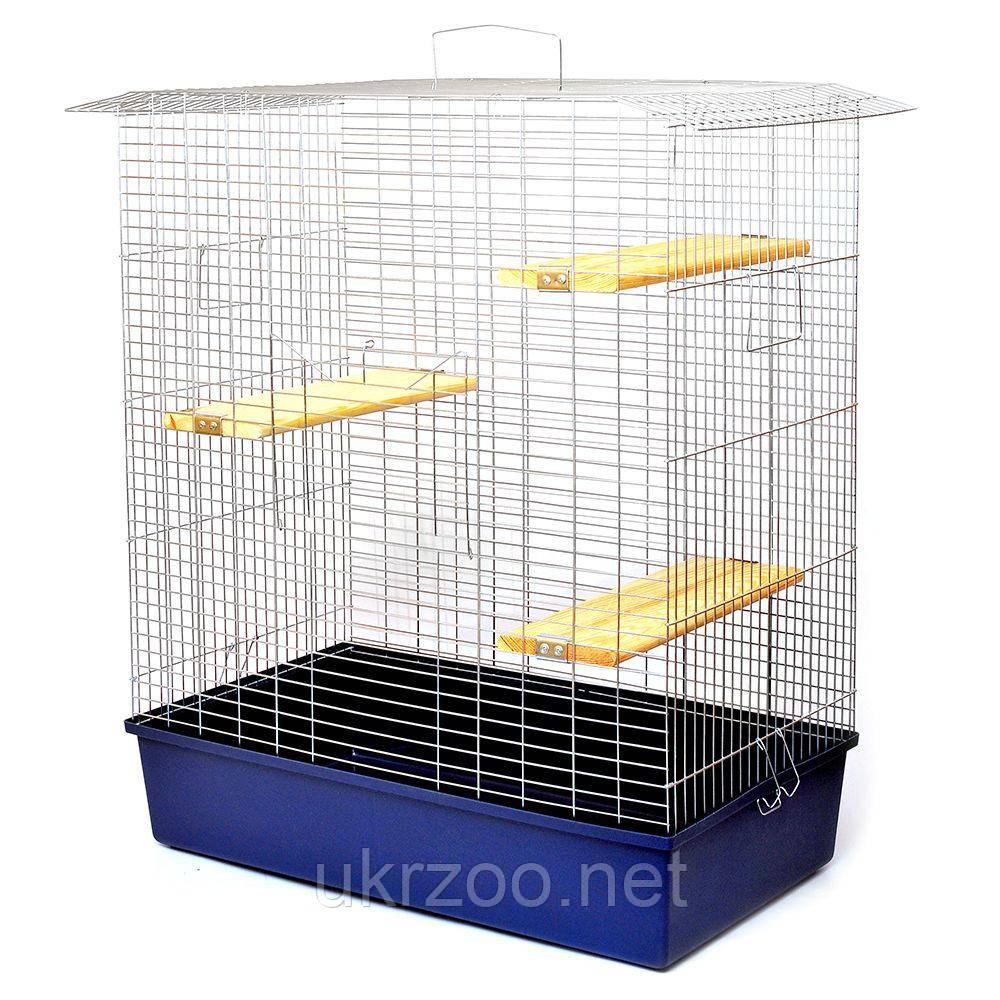 Клетка вольер 79х45х93 см Шиншилла 80 цинк для шиншиллы, дегу, крысы, белки, грызуна