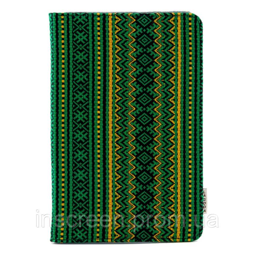 Чехол-книжка Lagoda Clip stand 6-8 зеленый, вышиванка, фото 2