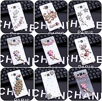 """Samsung J7 (2015) J700H оригинальный чехол панель накладка со стразами камнями для телефона """"LUXURIUS"""""""