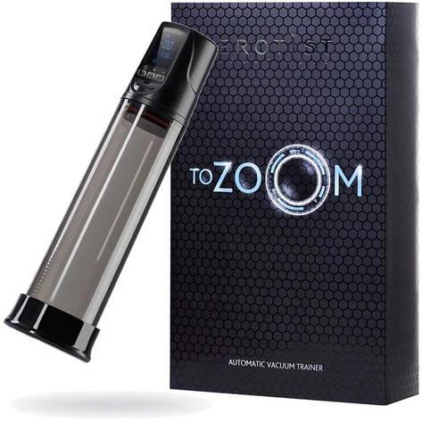 Автоматический вакуумный тренажер для мужчин Erotist ToZoom, ABS пластик, чёрный, 28,5 см, фото 2