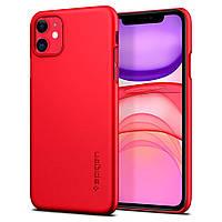 Чехол Spigen для iPhone 11 Thin Fit, Red (ACS00403), фото 1