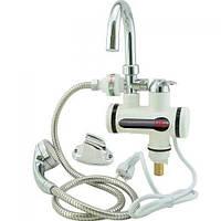 Проточный кран водонагреватель с Душем и индикатором температуры