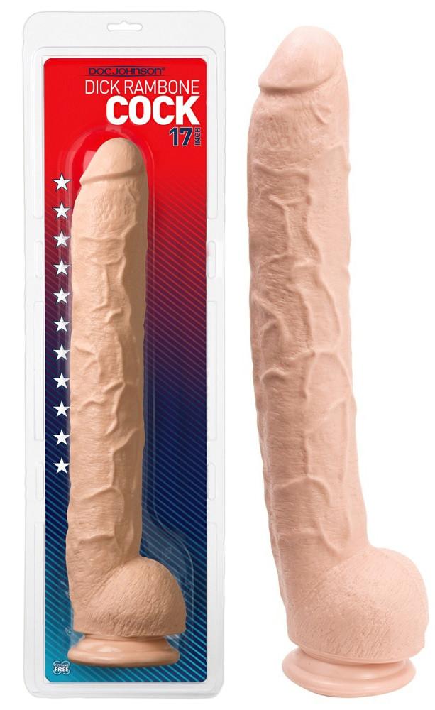 Фаллоимитатор с мошонкой - Dick Rambone Cock white