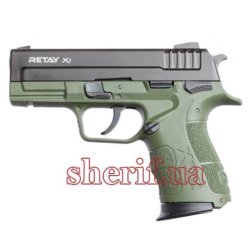 Пистолет стартовый Retay X1 кал. 9 мм. Цвет - olive. (P570102G)