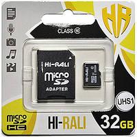 Карта памяти HI-RALI 32GB class 10  (UHS-1) (с адаптером)