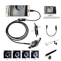 2 в 1 Эндоскоп, бороскоп с мини-камерой для Android и ПК 1 м 6 LED подсветка, фото 1