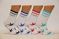 Женские носки высокие с хлопка STYLE LUXE КЛ kjv kjsv 140 белый