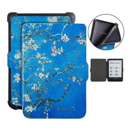 """Чехол - обложка дляэлектронной книги PocketBook 616,627,632 Van Gogh «Цветущие ветки миндаля"""", фото 2"""