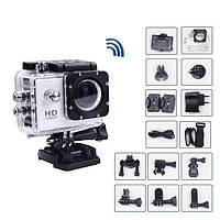 Экшн-камера с креплением на шлем с защитой от воды, камера A7 FullHD + аквабокс + Регистратор