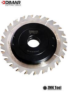 Фреза насадна DIMAR для пазування з можливістю регулювання від 3 до 6 мм D=160 d=30 B=3-6 Z24