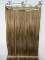 Модная накладная прядь из искусственных волос, длинные прямые волосы на 6-ти клипсах-заколках, цвет №27\613