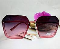 Модные солнцезащитные женские очки розовый градиент (0683)