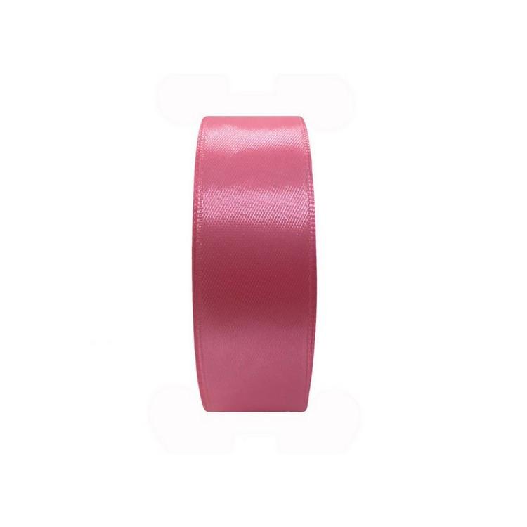 Лента атласная 25мм  цв.розовый темный  515