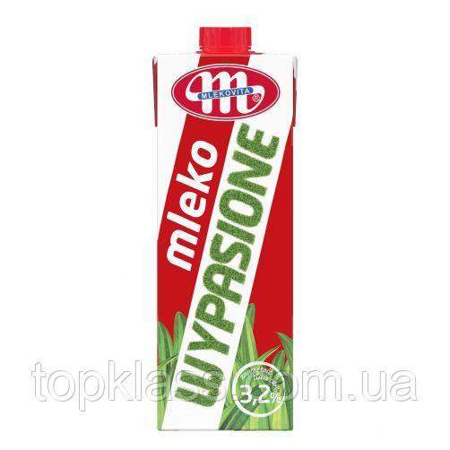 "Молоко коров'яче питне ультрапастеризоване ""Wypasione"" 3,2% жиру ТМ Mlekovita, Польща 1л"