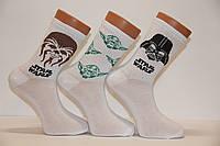 Чоловічі шкарпетки середні ТЕНІС НЛ з написами 40-45 білий м-2 Star Wars
