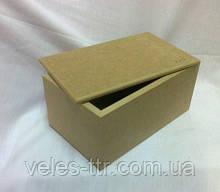 Шкатулка прямоугольная без петель 18х11х9 см мдф заготовка для декора №012