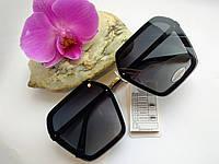 Модные солнцезащитные женские очки черного цвета (0684), фото 1