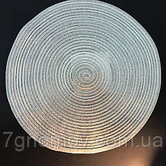 Подтарельник, сервировочный коврик под тарелки и приборы Ажур 38 см Бежевый