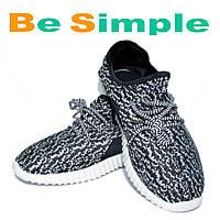 Кроссовки Adidas Yeezy Boost 350 мужские, черно-белые