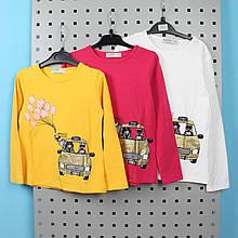 9366 Реглан для девочки с Машиной тм GLO-STORY размер 98,104,110,116,122
