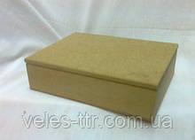 Шкатулка прямоугольная с петлями 19х14.5х6 см МДФ заготовка для декора №010