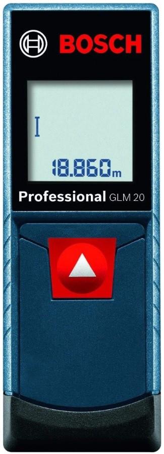 Лазерний далекомір Bosch GLM 20 Professional (0.15-20 м) (0601072E00)