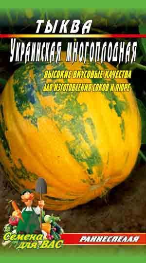 Тыква Украинская многоплодная 40 шт семян