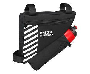 Сумка велосипедная в раму B-Soul BAO-009BLK, карман для фляги