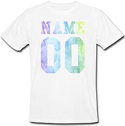 Мужская именная футболка - Multicolor (принт спереди) [Цифры, имена/фамилии можно менять] (50-100% предоплата)