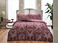TAC евро комплект  постельного белья saten Delux Grant bordo