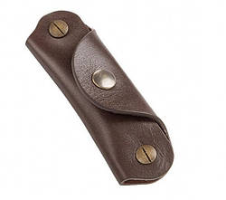Оригінальний шкіряний брелок BMW Motorrad Leather Key Ring, Dark Brown, артикул 76899898238