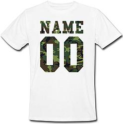 Мужская именная футболка - Military (принт спереди) [Цифры, имена/фамилии можно менять] (50-100% предоплата)