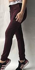 Спортивные брюки с накладными карманами N° 125 бордовый, фото 3