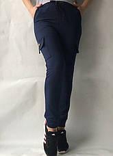 Спортивные брюки с накладными карманами N° 125 синий, фото 2