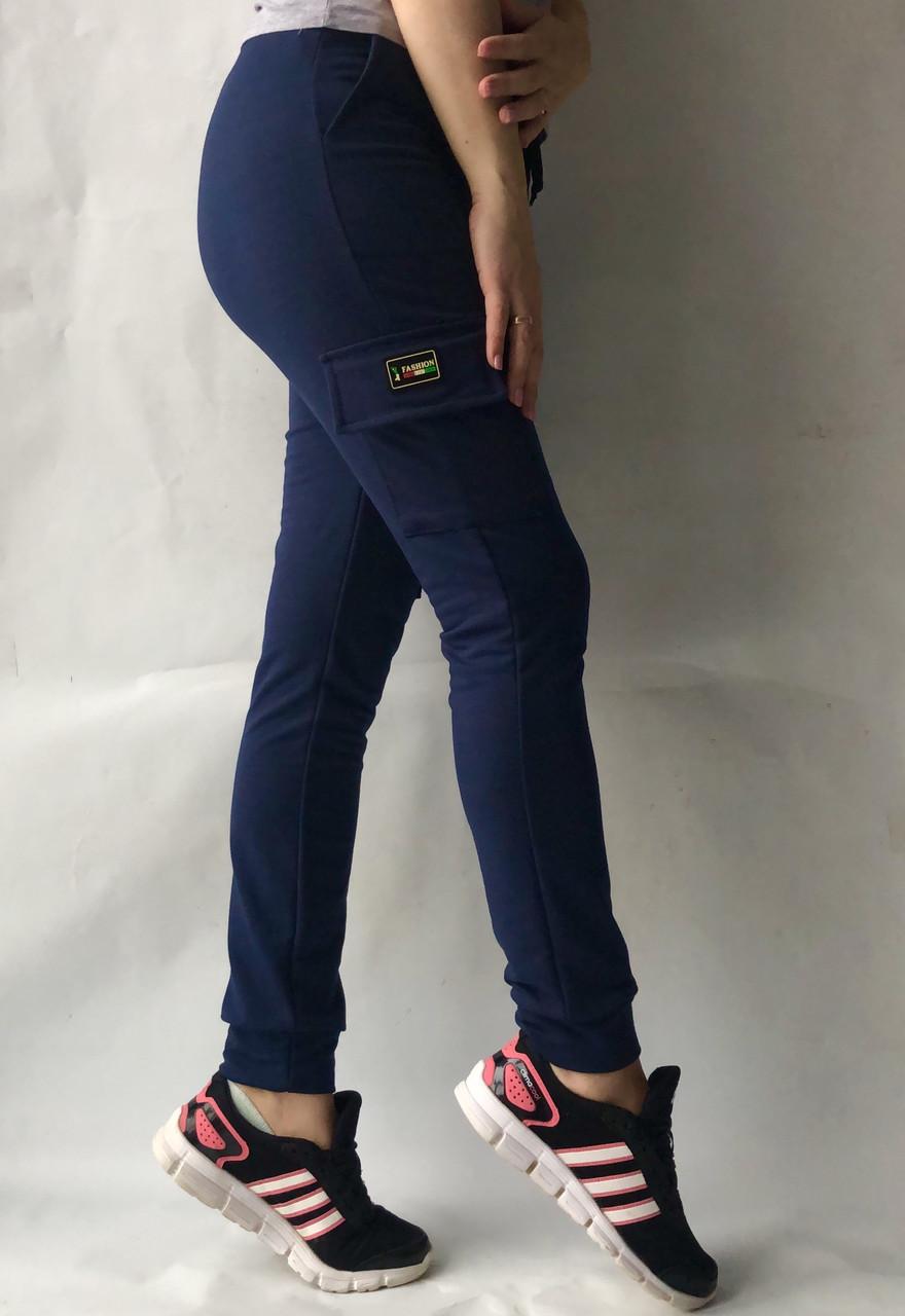 Спортивные брюки с накладными карманами N° 125 синий