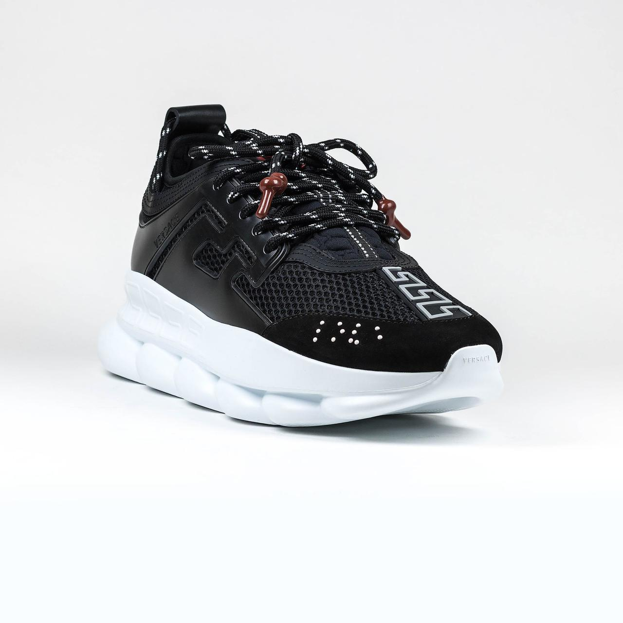 Женские кроссовки Versace Chain Reaction Black/White