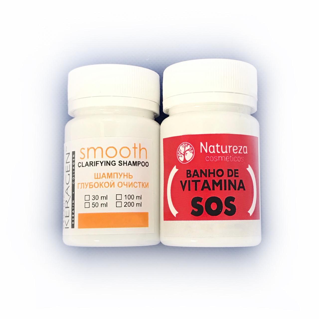 Natureza SOS Banho de Vitamina Набір ботекс-відновлення волосся, 30/50 р