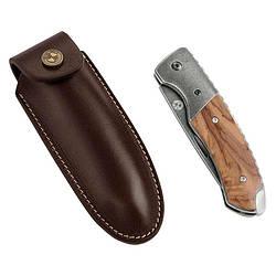 Оригінальний кишеньковий ніж BMW Motorrad Pocket Knife, Leather Case, Brown, артикул 76899898237