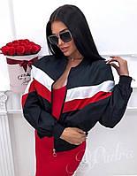 Женская ветровка с плащевки черный красный белый розовый 42-46