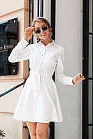 Женское платье на кнопках креп костюмка беж чёрный молоко бордо 42-44 44-46