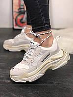 Кроссовки унисекс в стиле Balenciaga Triple S White Grey