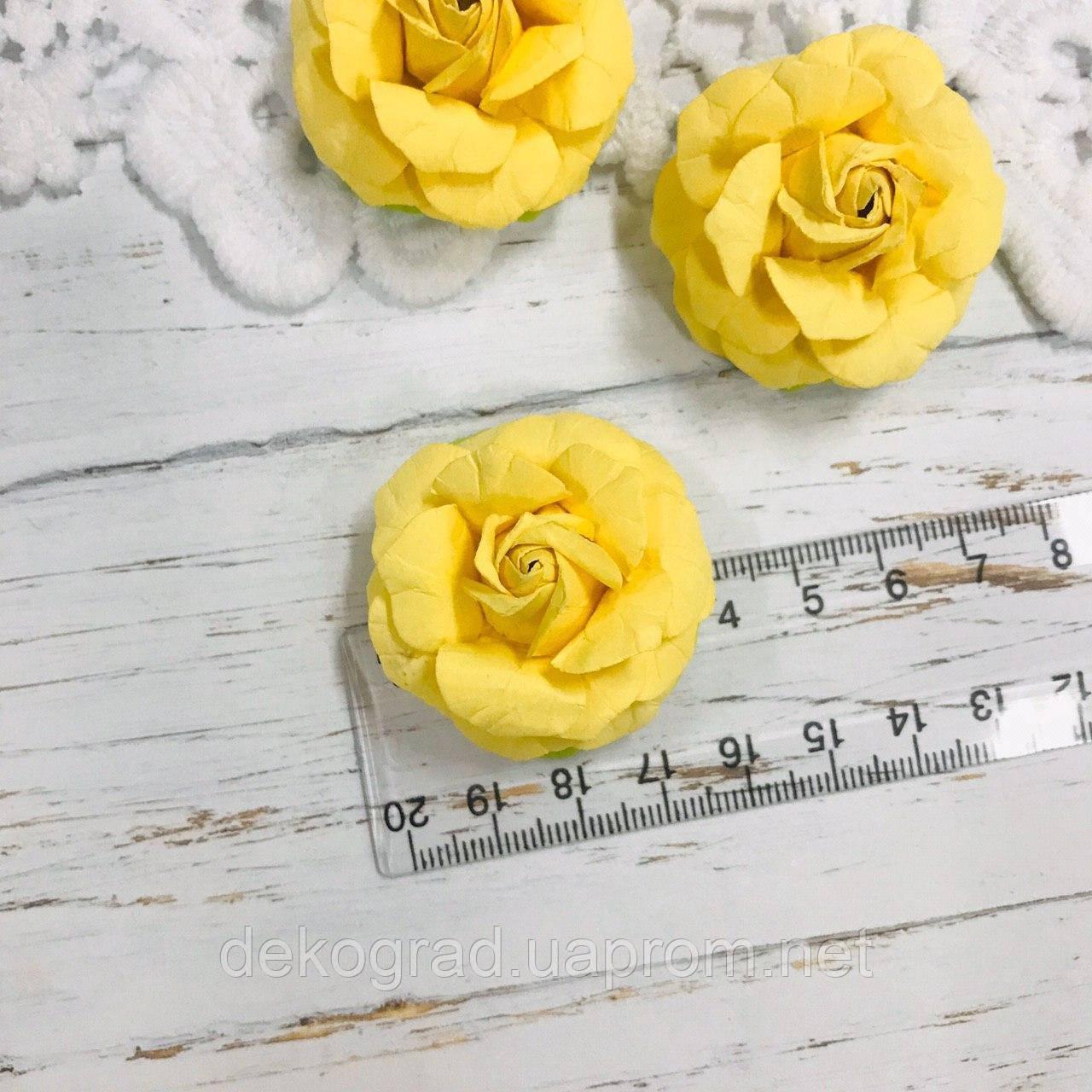 Роза жёлтая ДГ 40-45 мм