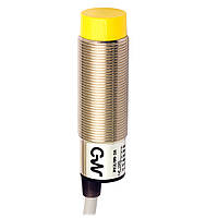 Индуктивный датчик M18 NPN/PNP, NO/NC, DECOUT, зона действия 8 мм, кабель 2м. PK3/00-2A M.D. Micro Detectors