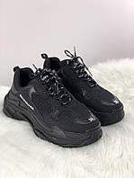 Кроссовки унисекс в стиле Balenciaga Triple S All Black