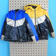 2932 Детская куртка для мальчика кожаная тм Buddy boy размер 3,4,5,6,7/8