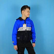 2636 Детская куртка для мальчика Active со светоотражающими элементами тм F&D размер 8,10,12,14,16