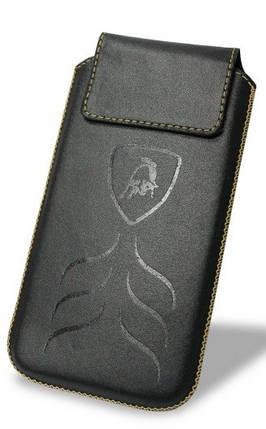 """Чехол-вытяжка Lamborghini кожаный чехол-вытяжка универсальный с диагональю до 4"""" черный, фото 2"""