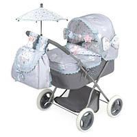 KM85029 Коляска   для куклы, 65-38-60см, классика, сумка, корзинка,зонт, в кор-ке, 53-34-11,5см
