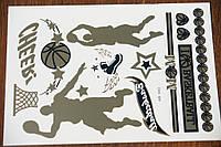 Интересные молодежные металлические наклейки флеш татуировки от Бижутерия оптом RRR. 784