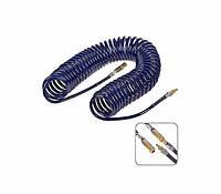 Шланг спиральный для пневмоинструмента 5ммх8ммх5м (полиуритан) Alloid